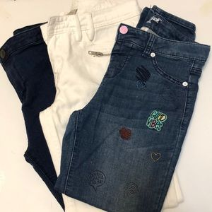 Other - Girls jeans/jeggings, white jeans with tags